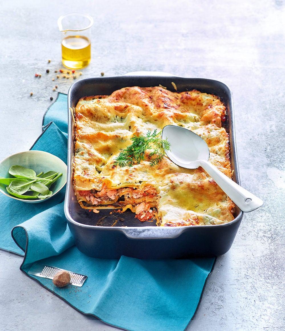 Photo de/du Lasagne épinards et saumon par WW
