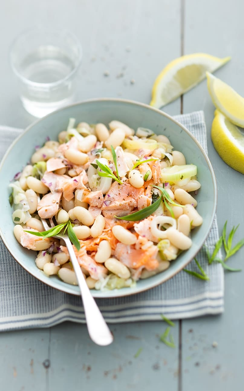 Photo de/du Mogettes au saumon par WW