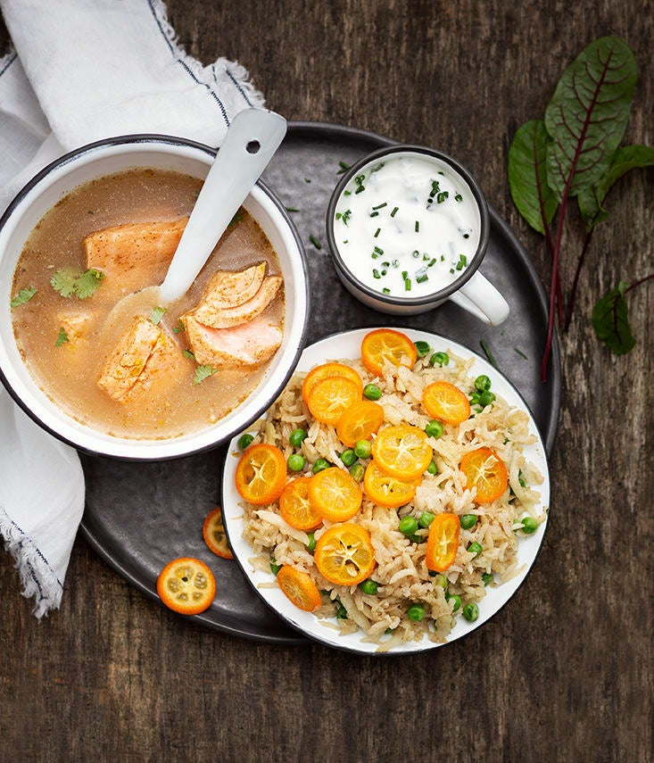 Photo de/du Saumon mi-cuit au bouillon épicé par WW