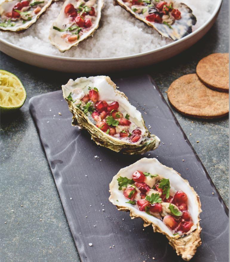Photo de/du Tartare d'huîtres au citron vert et craquelins au sarrasin par WW