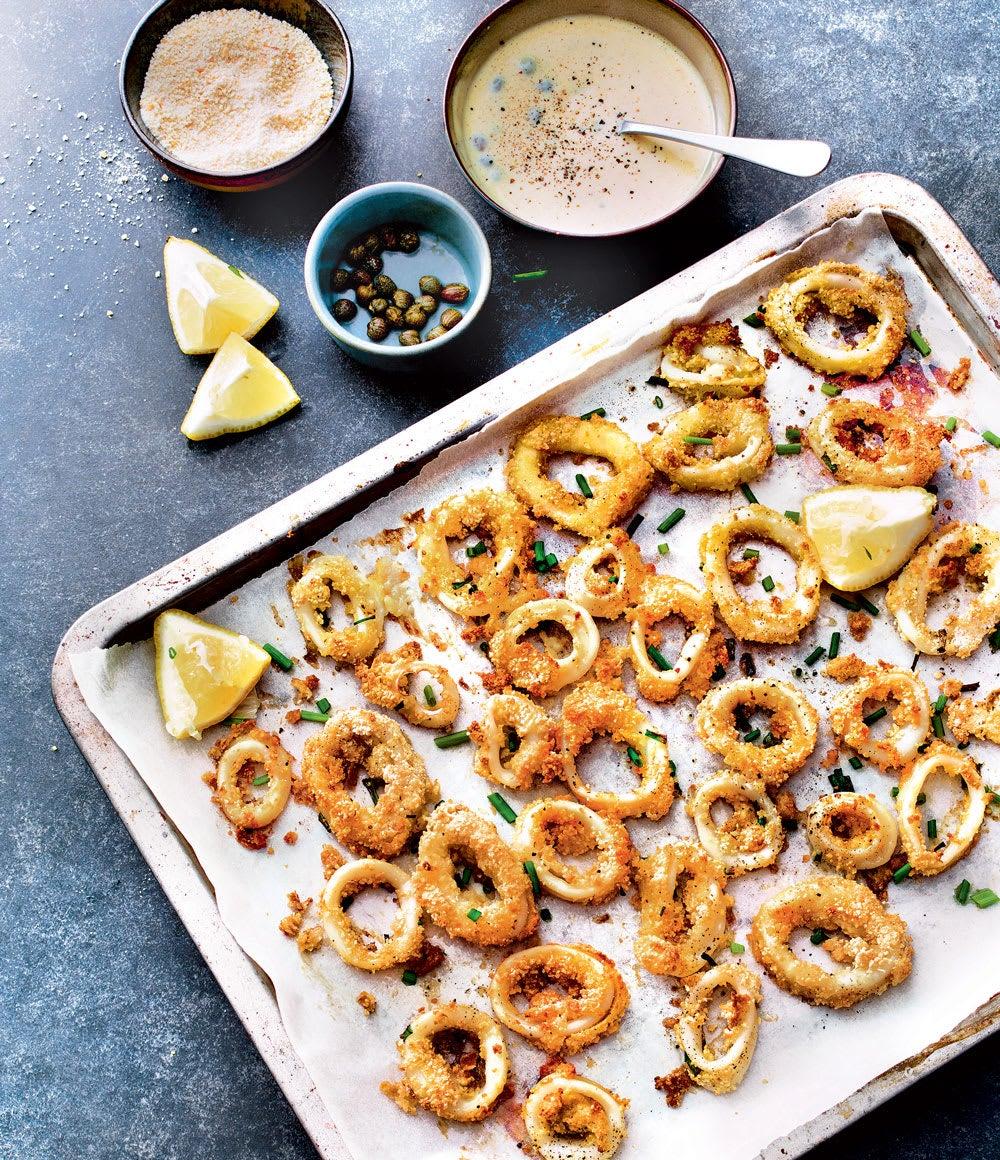 Photo de/du Beignets de calamars, mayonnaise aux câpres par WW