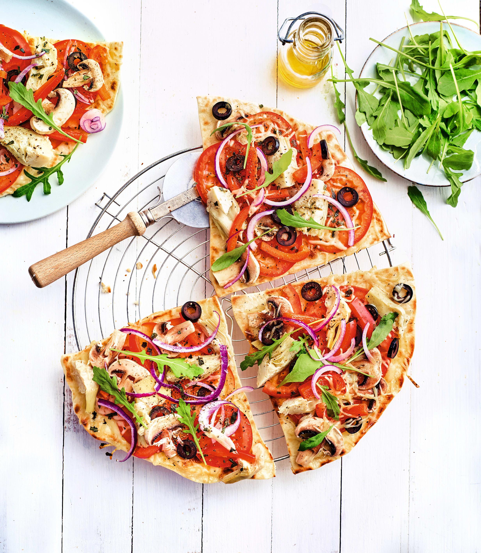 Photo de/du Pizzas grillées aux légumes et roquette par WW