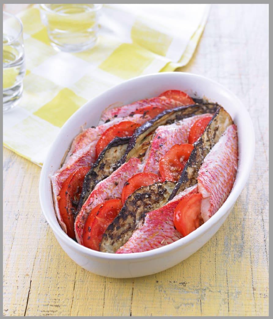 Photo de/du Tian de rouget aux aubergines et aux tomates par WW