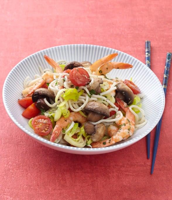 Photo de/du Nouilles sautées aux crevettes et aux petits légumes croquants par WW