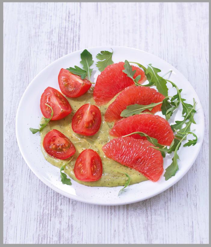 Photo de/du Salade de pamplemousses et de tomates, sauce à l'avocat par WW