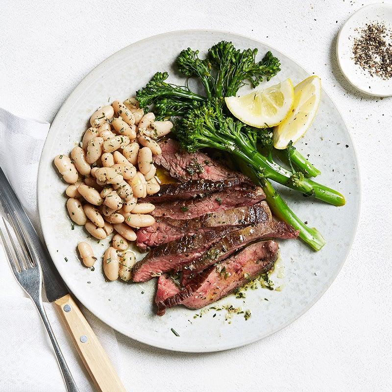 Photo de/du Steak toscan, haricots blancs et broccolini par WW