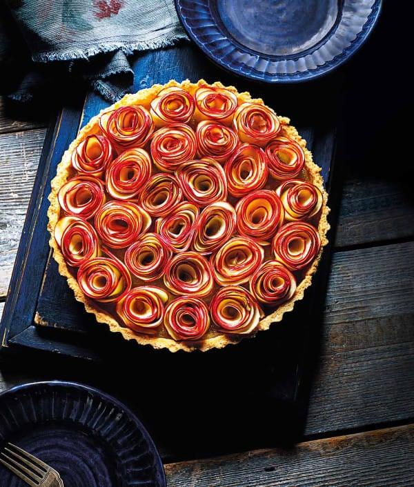 Photo de/du Tarte aux pommes bouquet de roses par WW