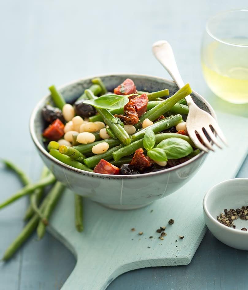 Photo de/du Salade haricots basilic et olives par WW