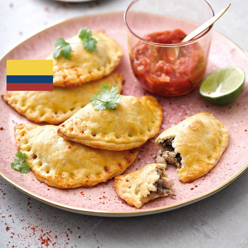 Photo de/du Empanadas au fromage frais et salsa par WW