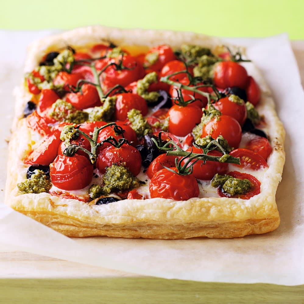 Photo de/du Tarte aux tomates rôties et au fromage par WW
