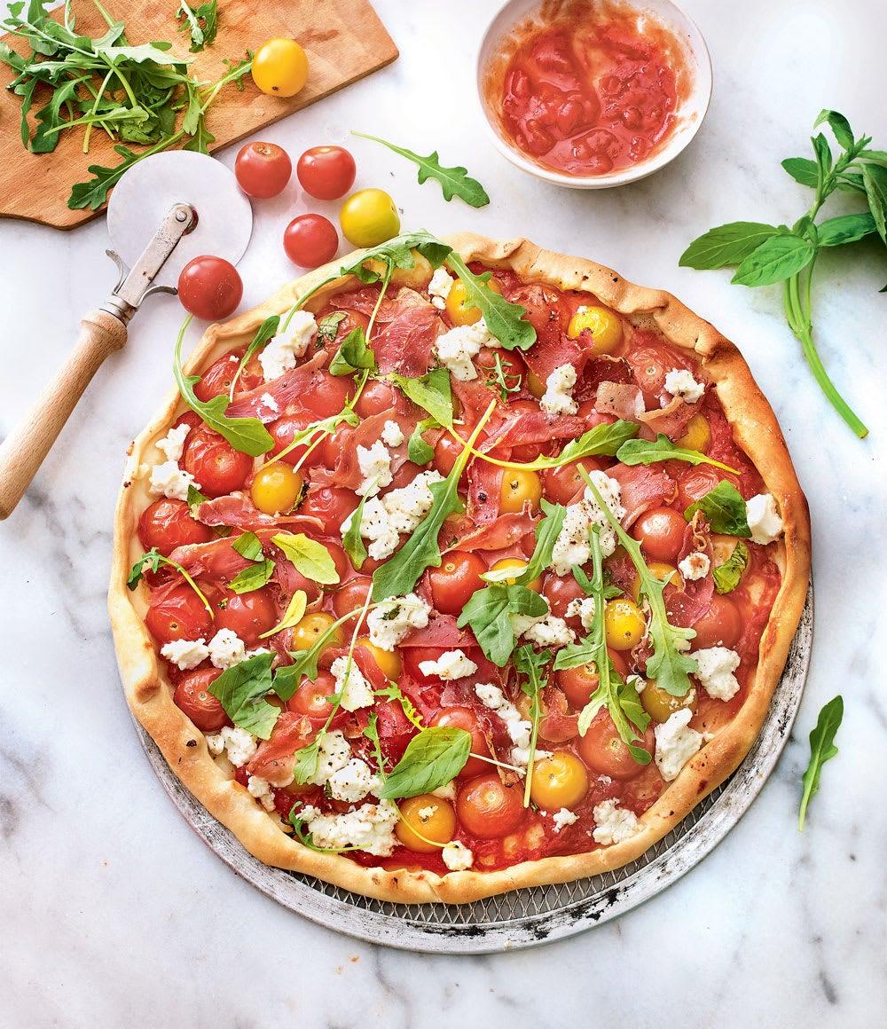 Photo de/du Pizza ricotta, tomates et roquette au Parme par WW