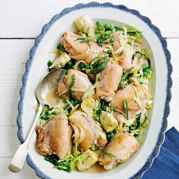 Photo de/du Mijoté de poulet et artichauts par WW