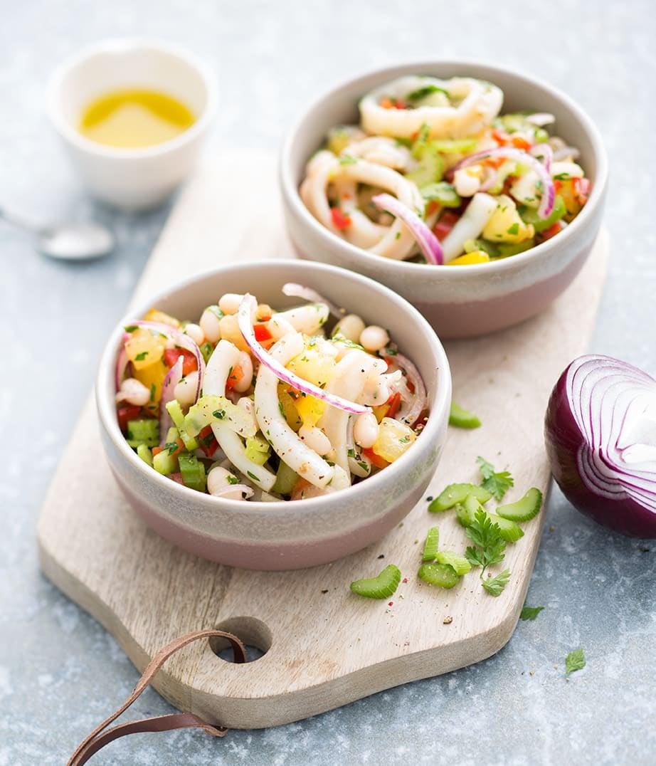 Photo de/du Salade de calamars aux légumes croquants par WW
