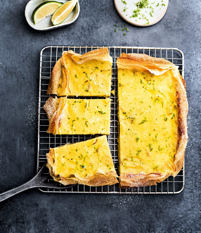 Photo de/du Tarte filo au fromage blanc, à la banane et au citron vert par WW