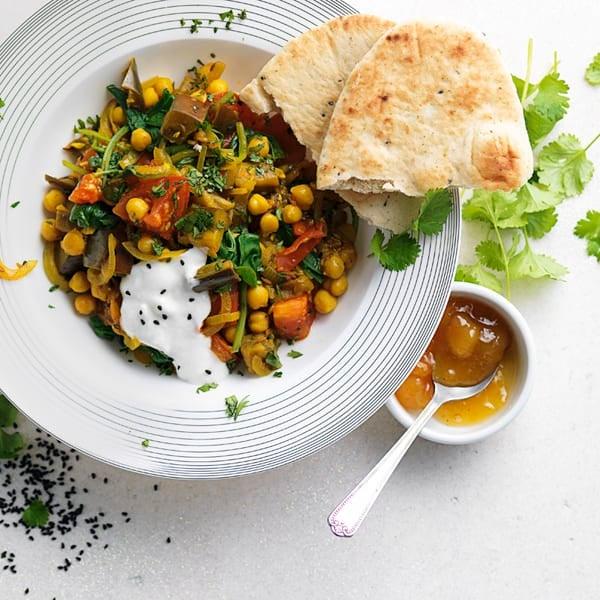 Photo de/du Mijoté de pois chiches et légumes au curry par WW
