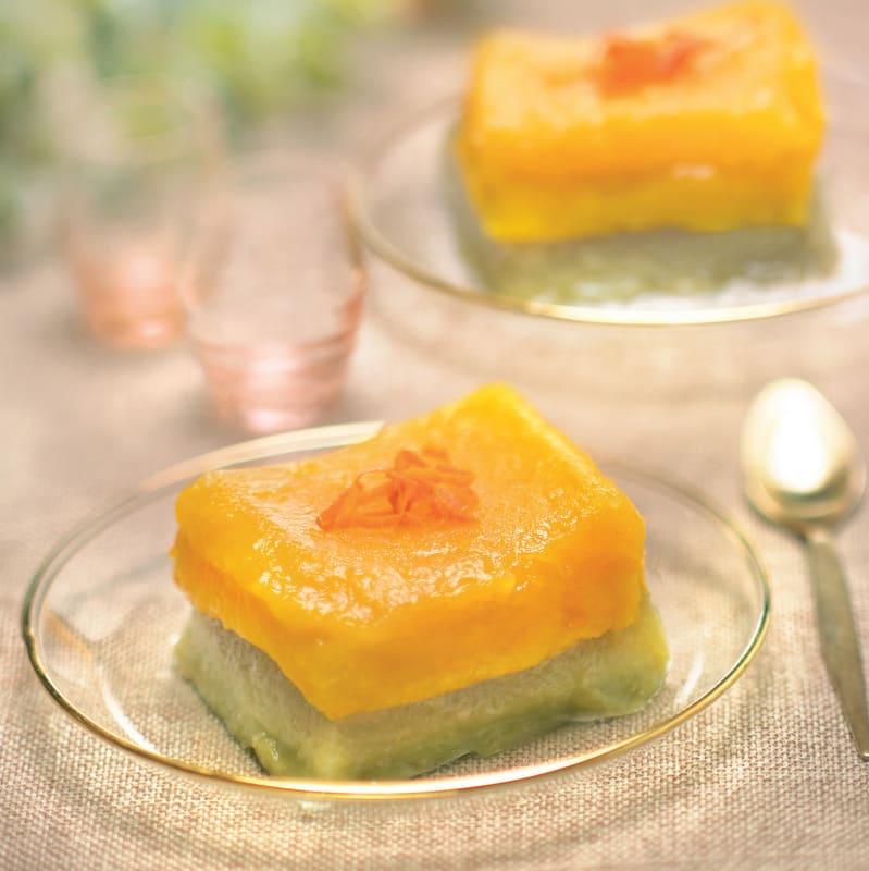 Photo de/du Flans mandarine matcha façon laotienne par WW