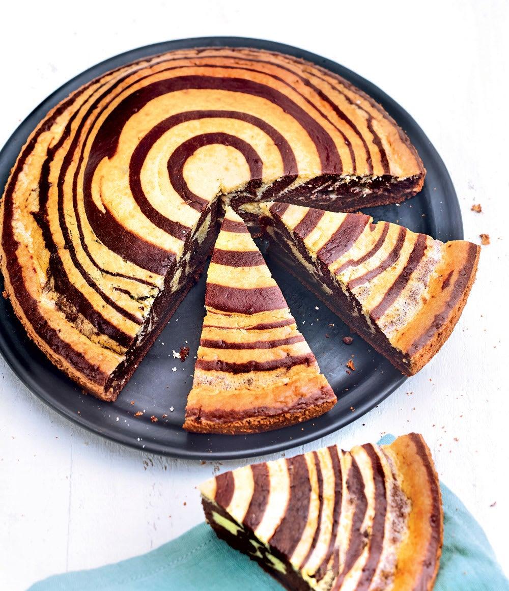 Photo de/du Zebra cake vanille et cacao par WW