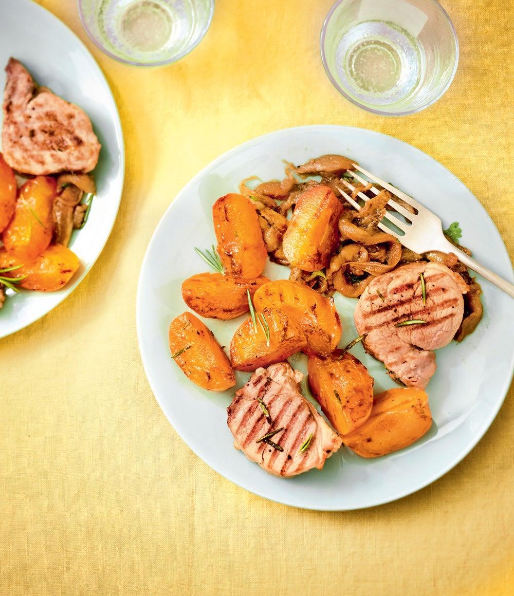 Photo de/du Filet mignon à la plancha aux abricots par WW