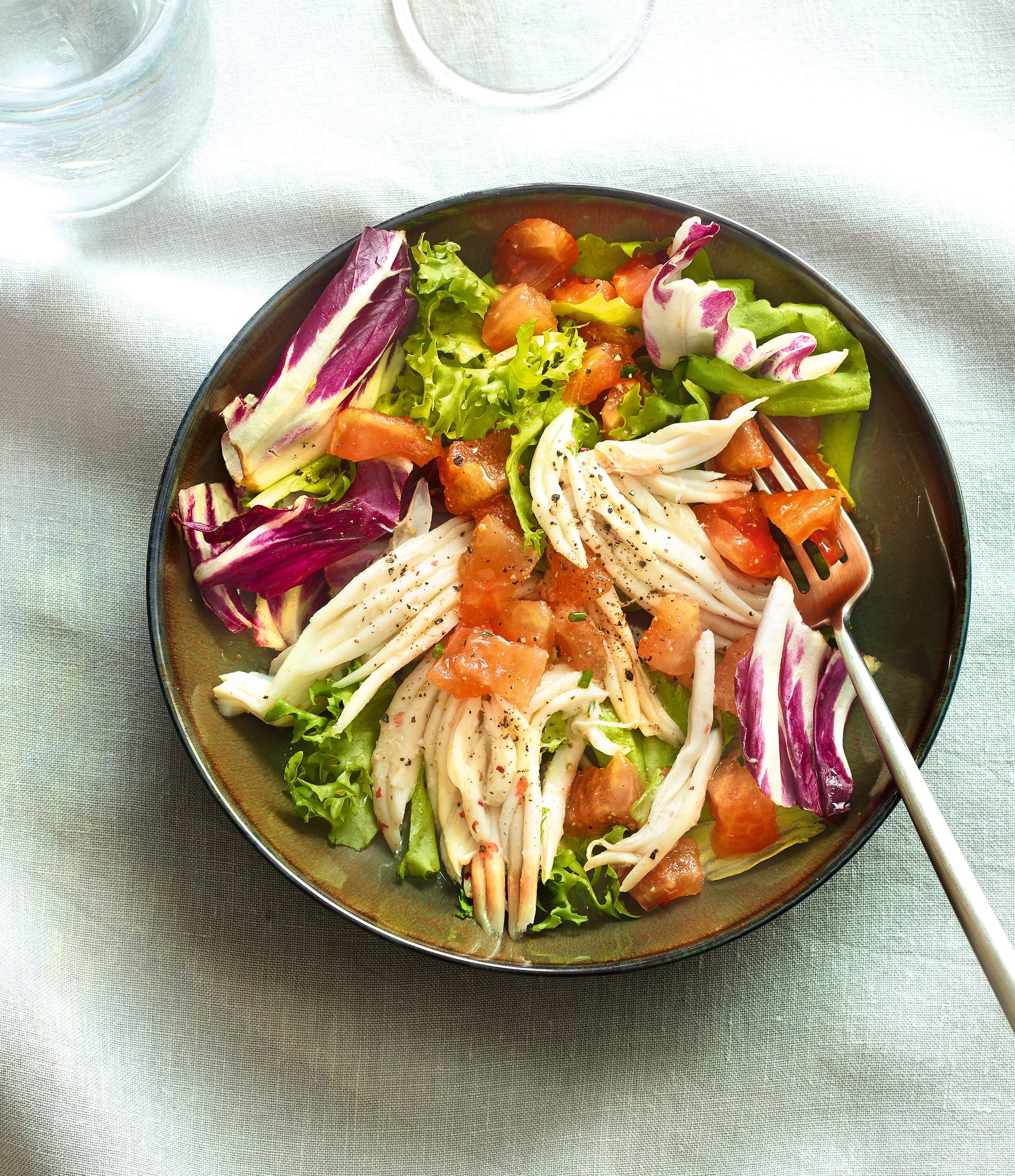 Photo de/du Salade de raie tiède aux tomates concassées par WW
