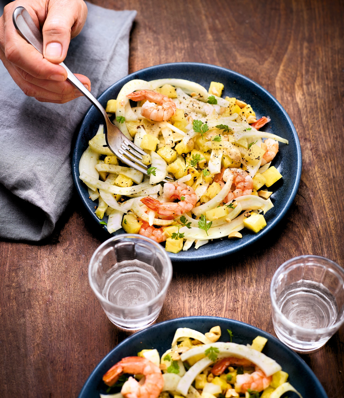 Photo de/du Salade exotique au fenouil et aux crevettes par WW