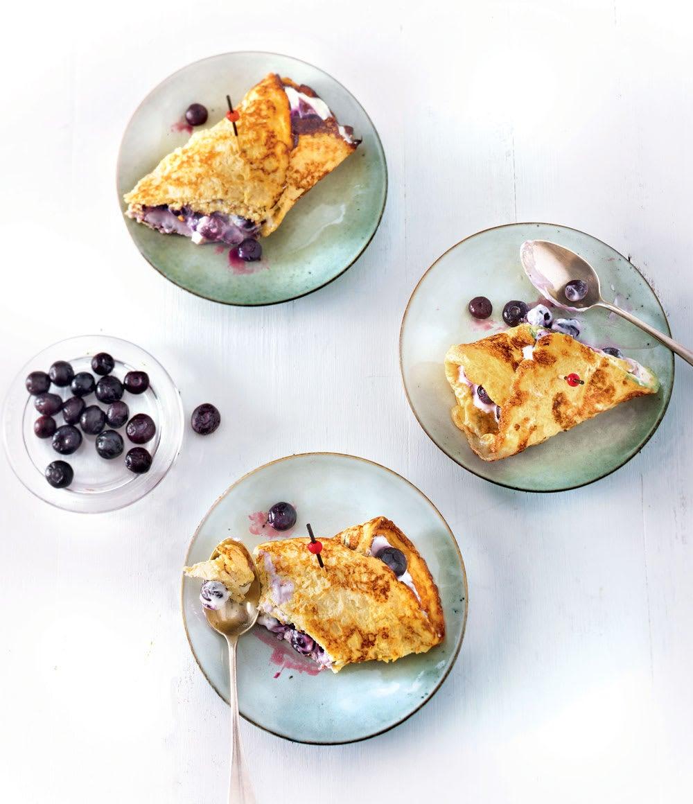 Photo de/du Wrap d'omelette aux myrtilles par WW
