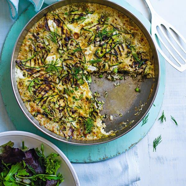 Photo de/du Frittata de courgettes grillées, petits pois et pesto par WW