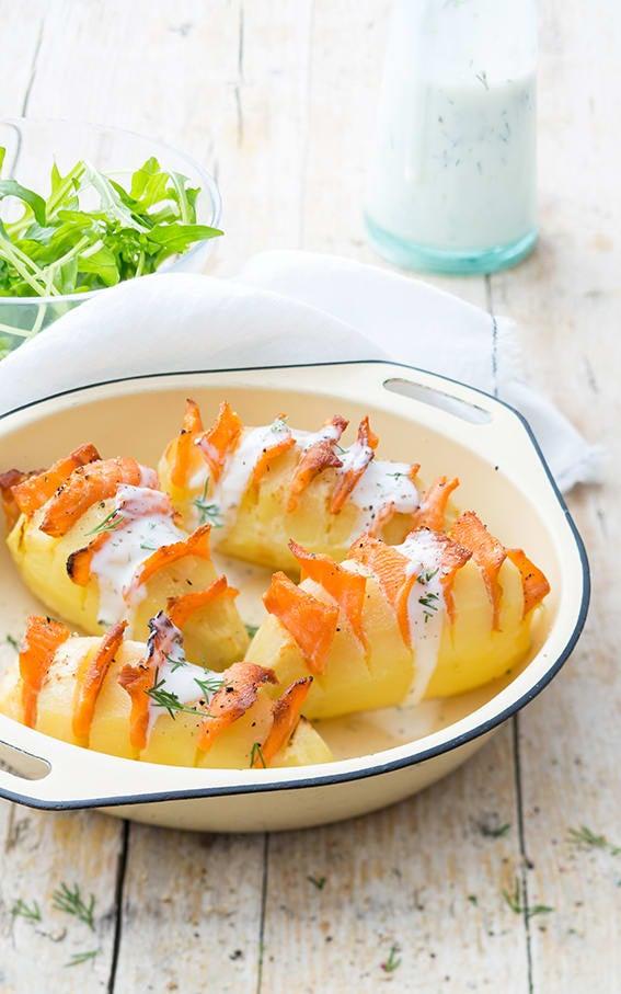 Photo de/du Hérisson de pomme de terre au saumon par WW