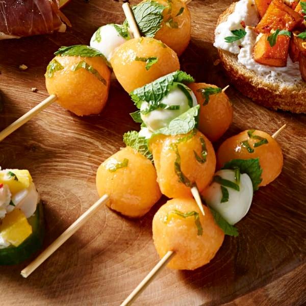 Photo de/du Brochettes de melon, mozzarella et menthe par WW