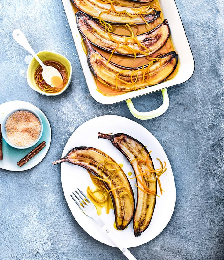Photo de/du Bananes rôties flambées au vieux rhum par WW