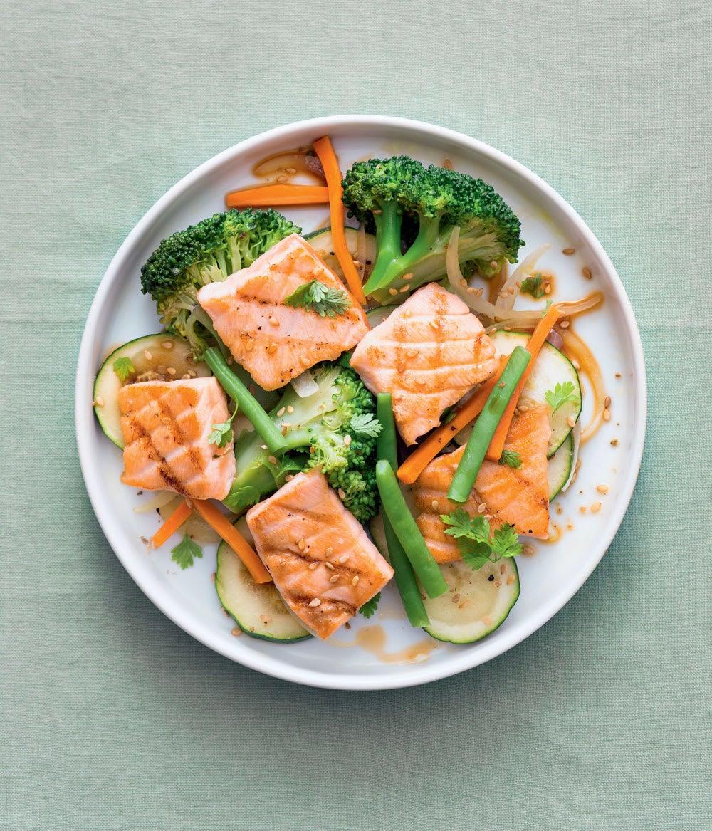 Photo de/du Poêlée de saumon aux légumes verts par WW