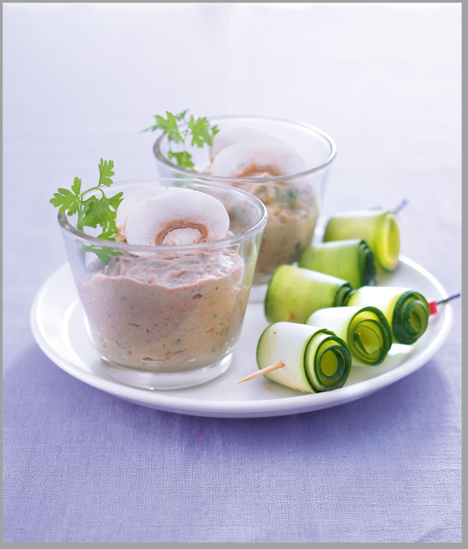 Photo de/du Rouleaux de courgette en crème de champignons par WW
