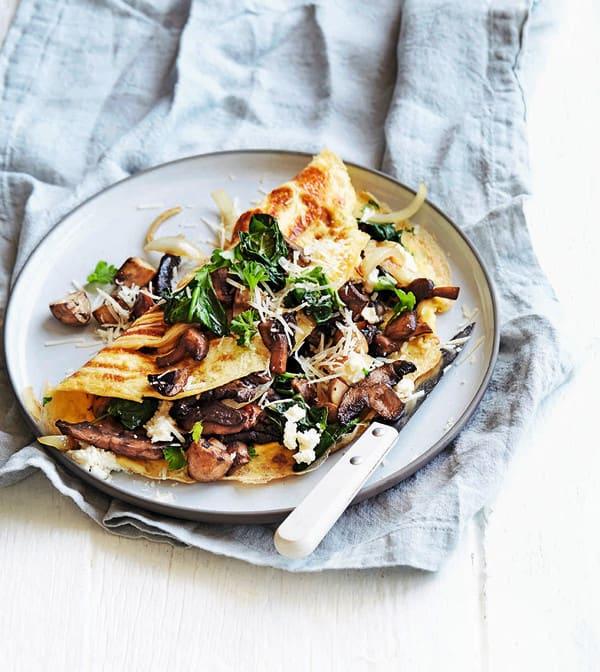 Photo de/du Omelette florentine aux champignons par WW