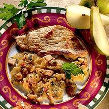 Photo de/du Escalopes de veau au bacon et à la poire par WW