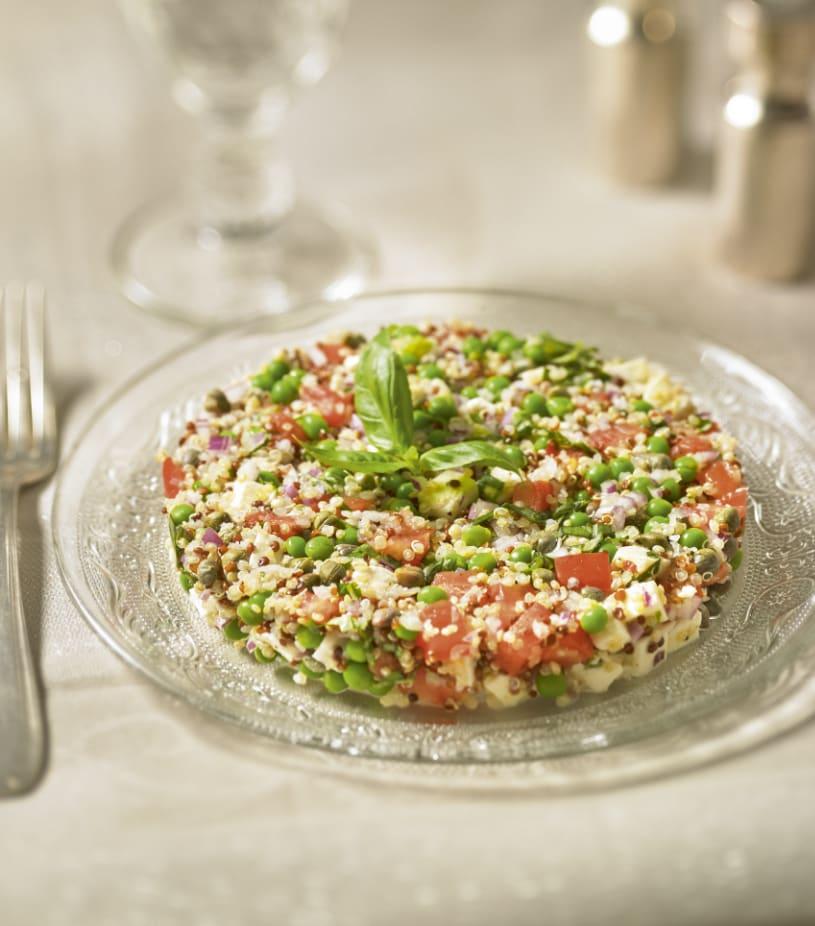 Photo de/du Tartare de quinoa, tomates et petits légumes par WW