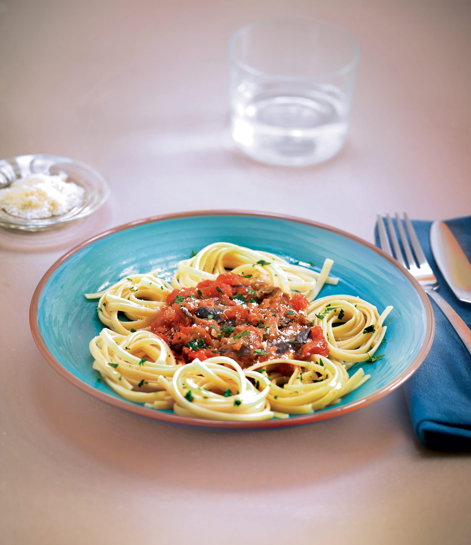 Photo de/du Linguines, sauce parmesane à l'aubergine par WW