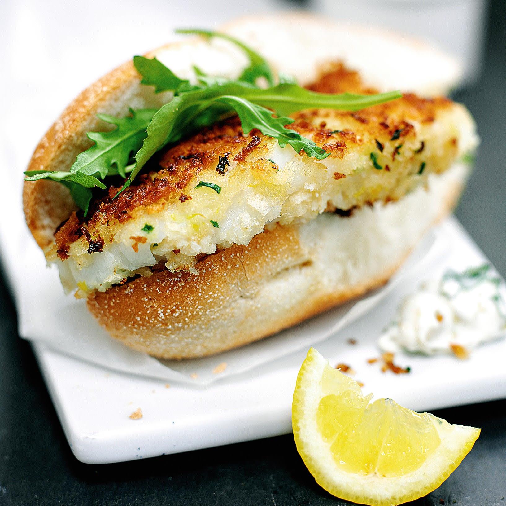 Photo de/du Burger au poisson pané maison par WW