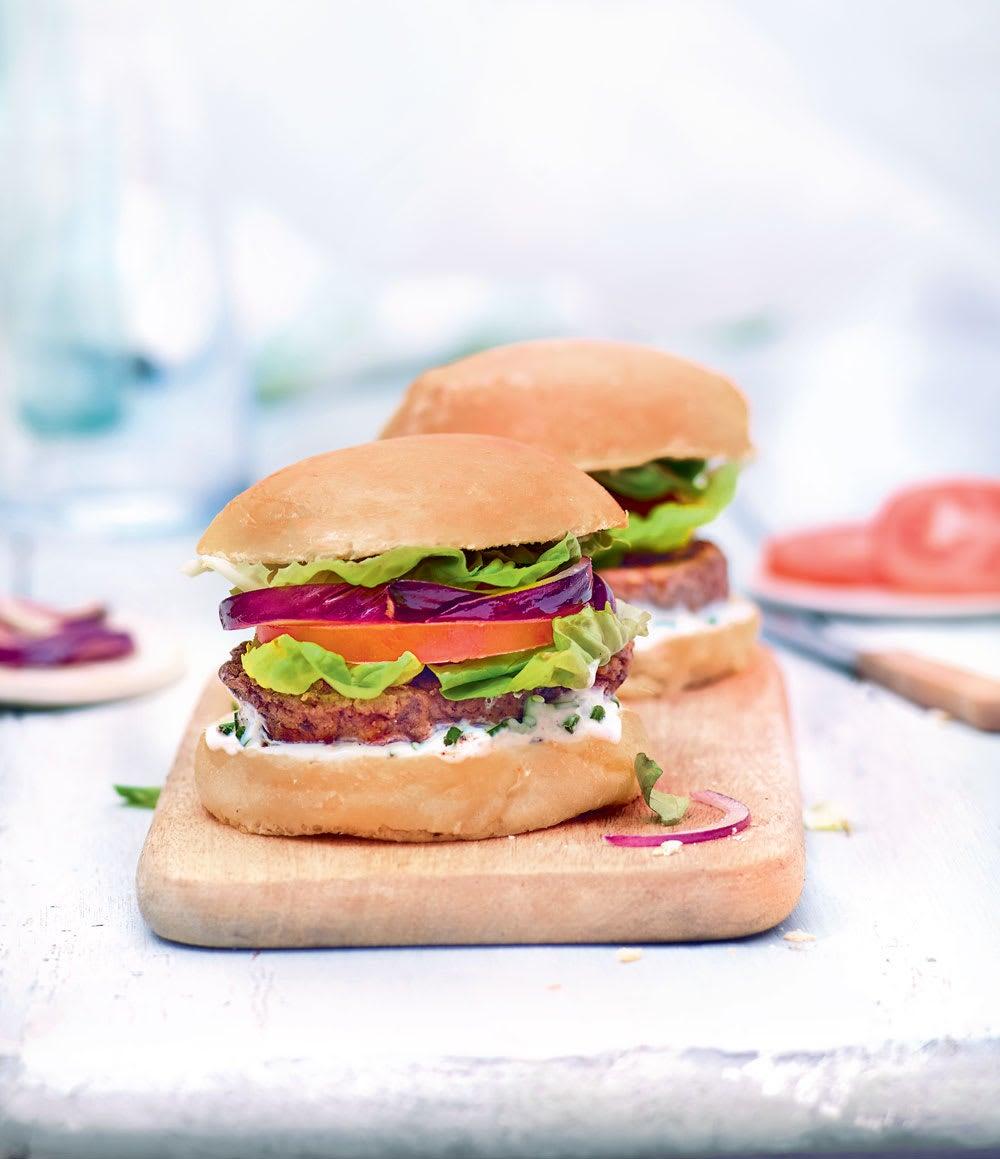 Photo de/du Burger et steak de haricots rouges par WW