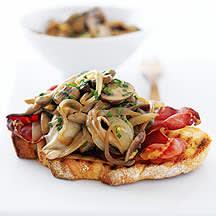 Photo de/du Tartine aux champignons et pancetta par WW