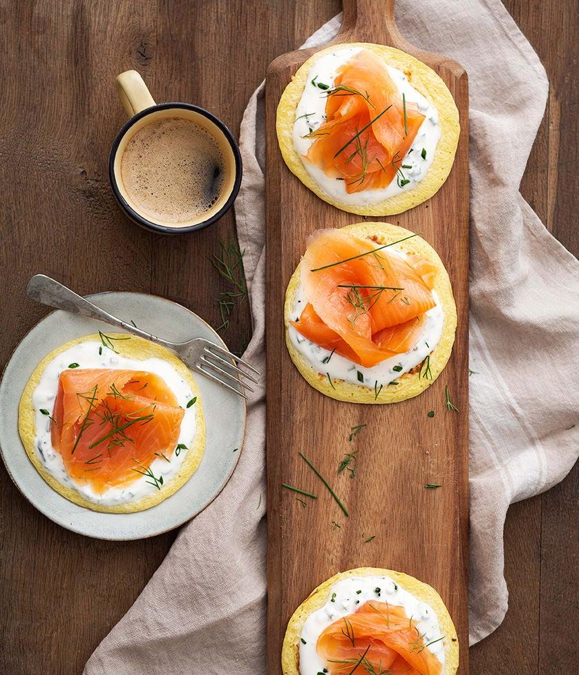 Photo de/du Blinis minute au saumon fumé par WW