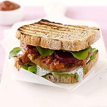 Photo de/du Sandwich au porc grillé et sa confiture de tomates par WW