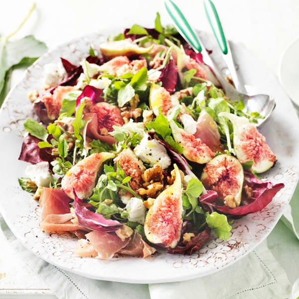 Photo de/du Salade aux figues et jambon cru par WW