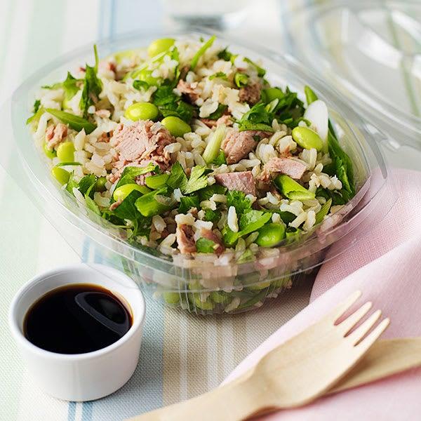 Photo de/du Salade de riz au thon et édamamé par WW