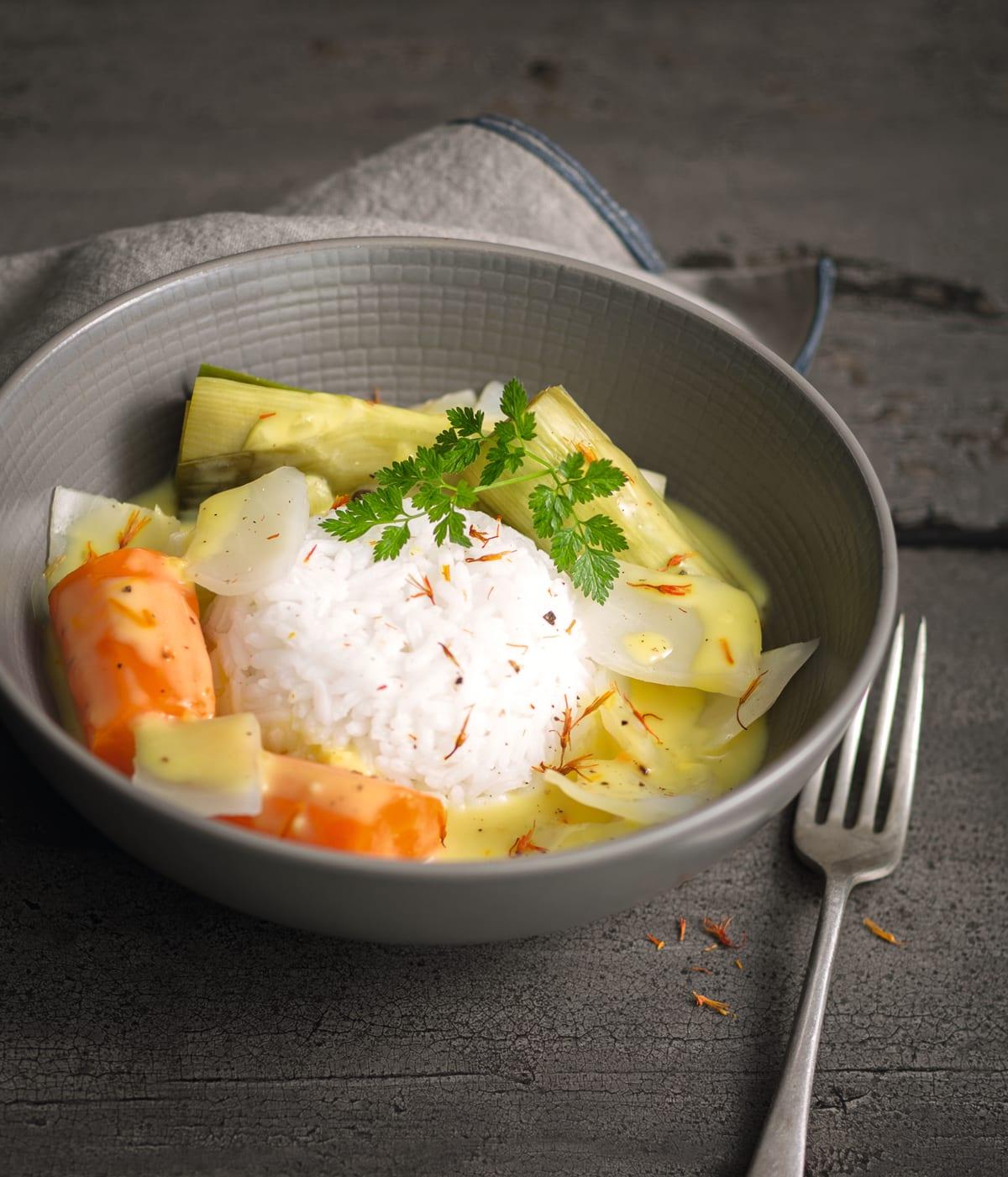 Photo de/du Pot-au-feu de légumes sauce safranée par WW