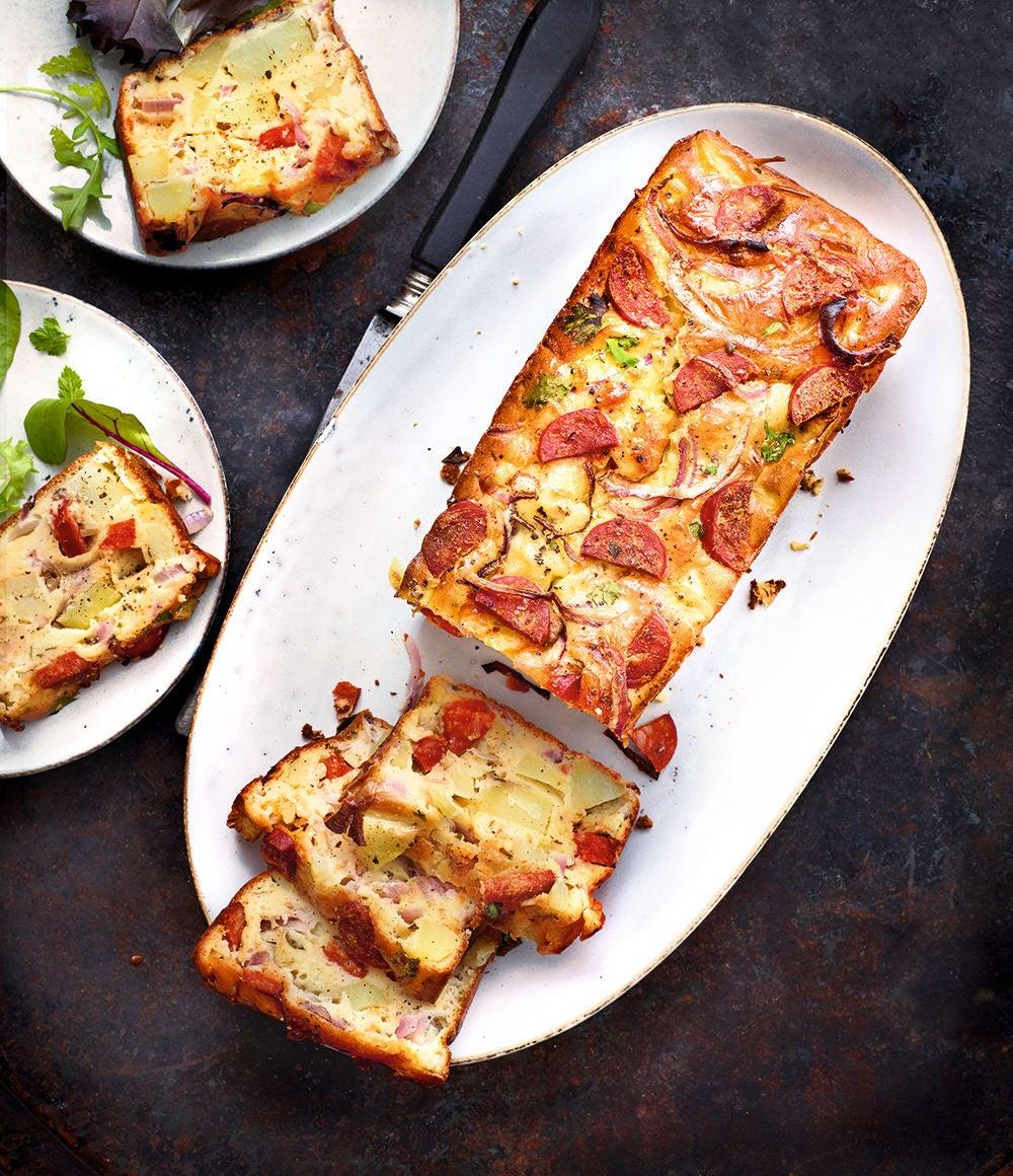 Photo de/du Cake aux pommes de terre et au chorizo par WW