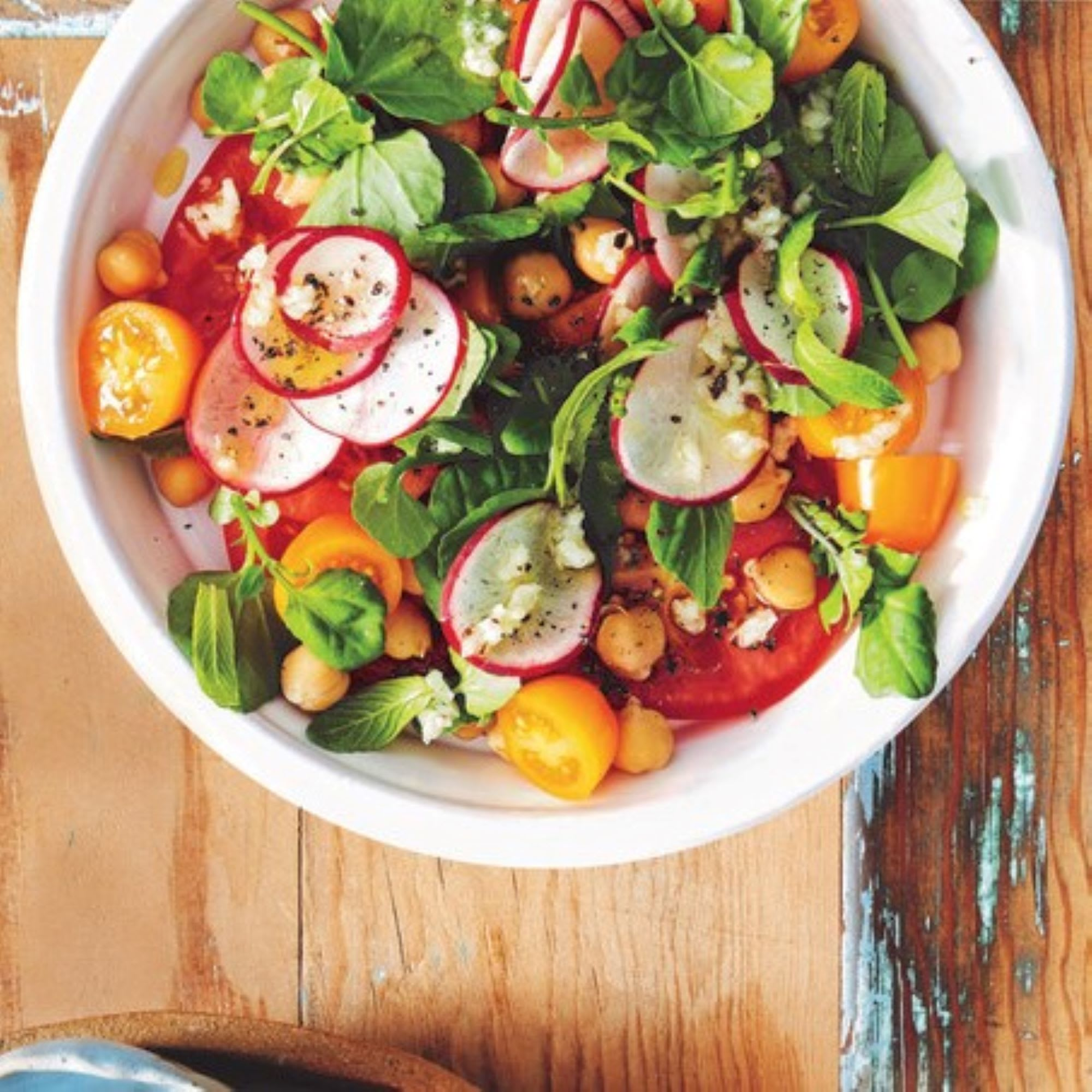 Photo de/du Salade de tomates et pois chiches par WW