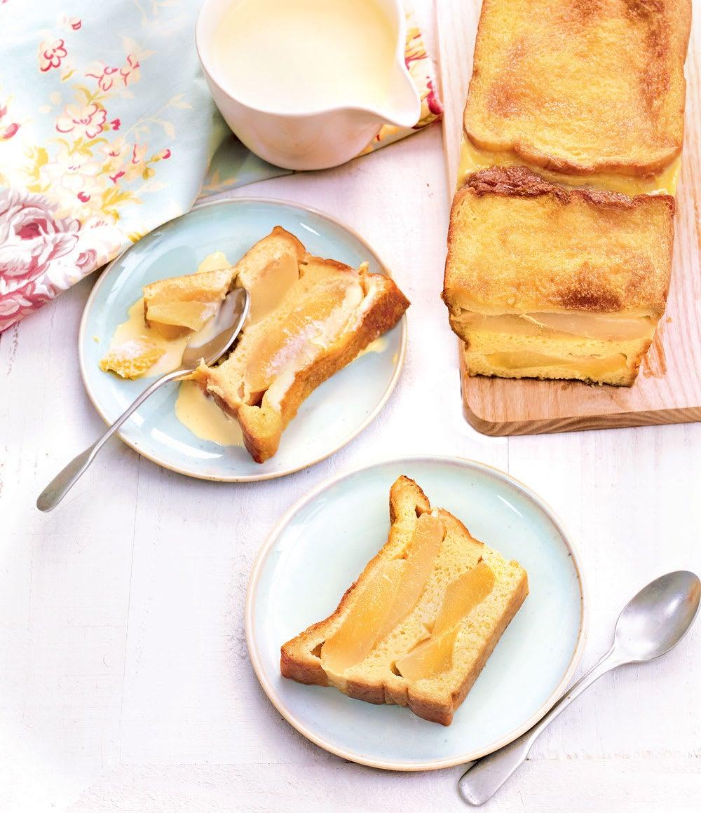 Photo de/du Pudding de pain brioché à la poire par WW