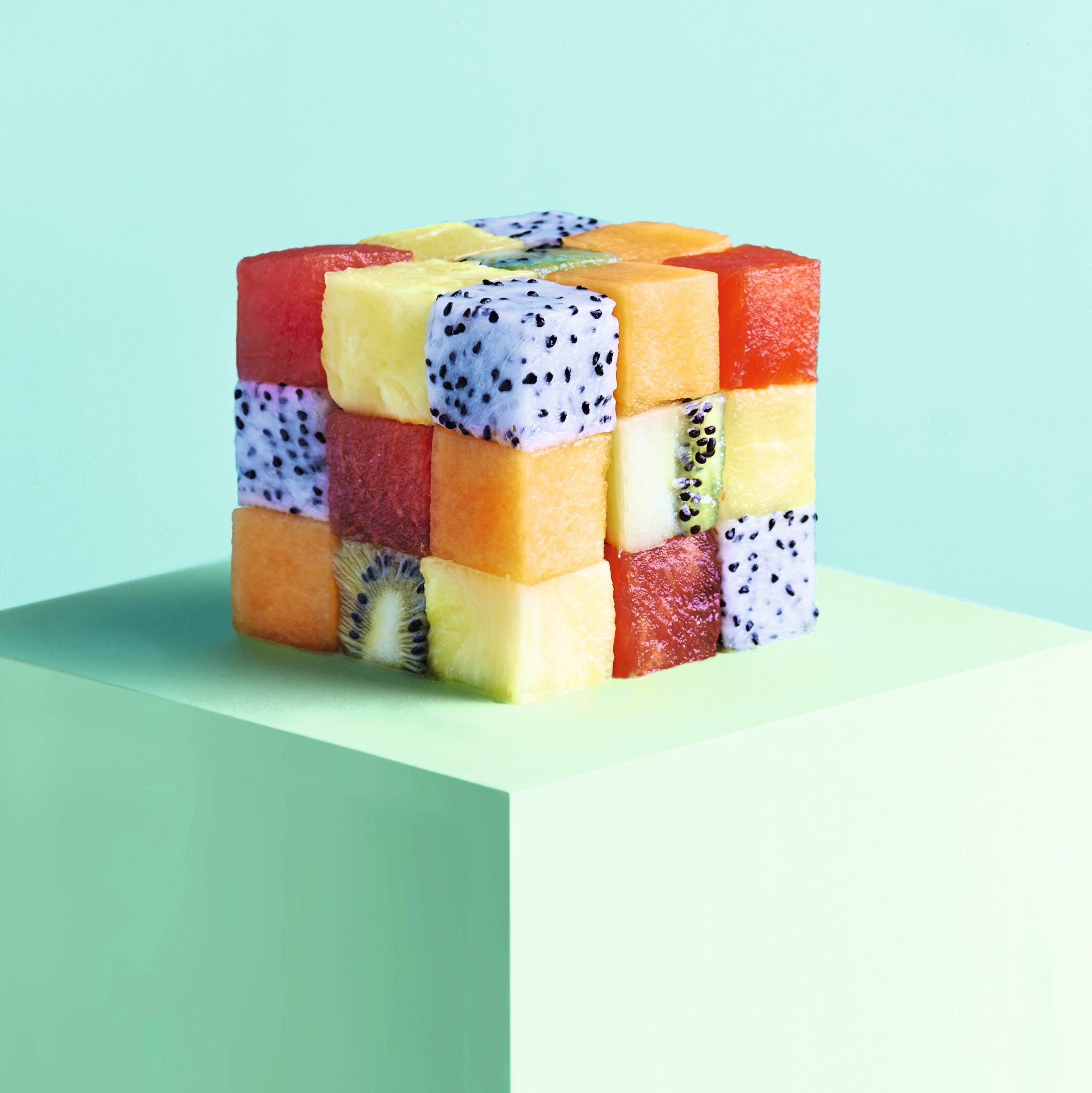 Photo de/du Salade de fruits façon Rubik's Cube par WW