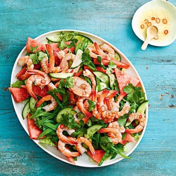 Photo de/du Salade pastèque et crevettes par WW