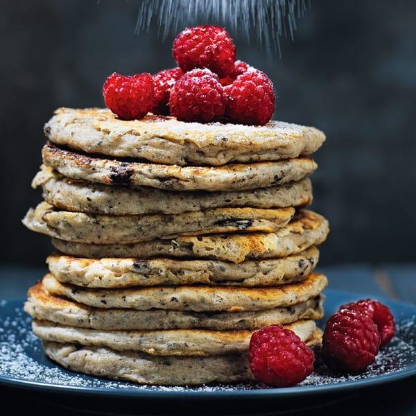 Photo de/du Pancakes aux pépites de chocolat et graines de chia par WW