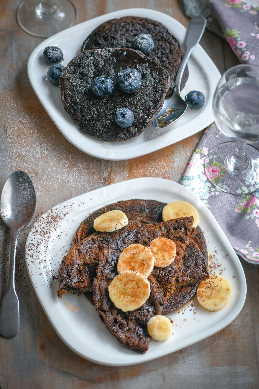 Photo de/du Pancakes protéinés banane-chocolat par WW
